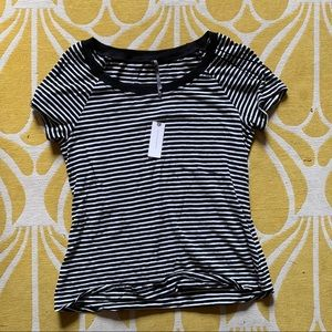 NWT Anthropologie scoop neck striped t-shirt